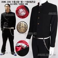 Японская школьная форма набор мужской тонкий пиджак китайский туника костюм 1 предмет куртка + Штаны