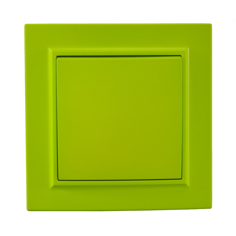Light switch Yellow Green  one gang one way Colorful European standard DIY Decorative wall switch 10A 250V legrand  livoloLight switch Yellow Green  one gang one way Colorful European standard DIY Decorative wall switch 10A 250V legrand  livolo