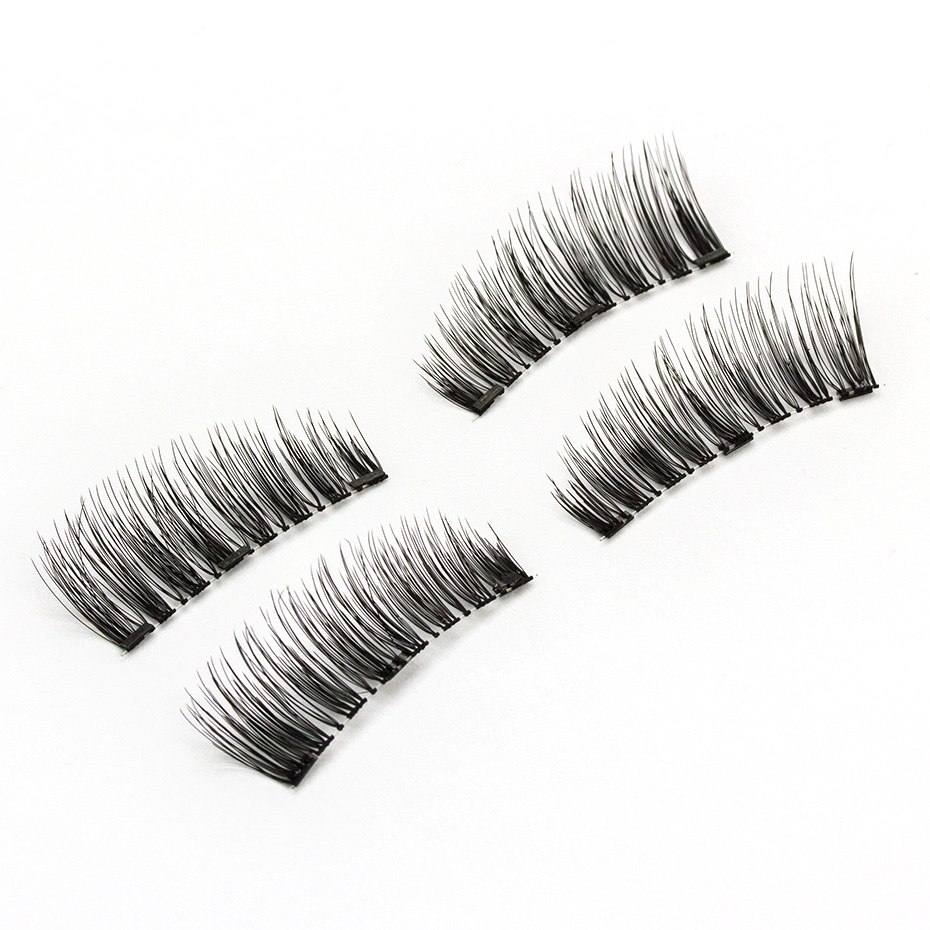 HaHaLash Magnetic Eyelashes 6D eype with three tiny magnets Natural curl Hand Made Factory Sell Eyelashes extention-HH-KS02-3