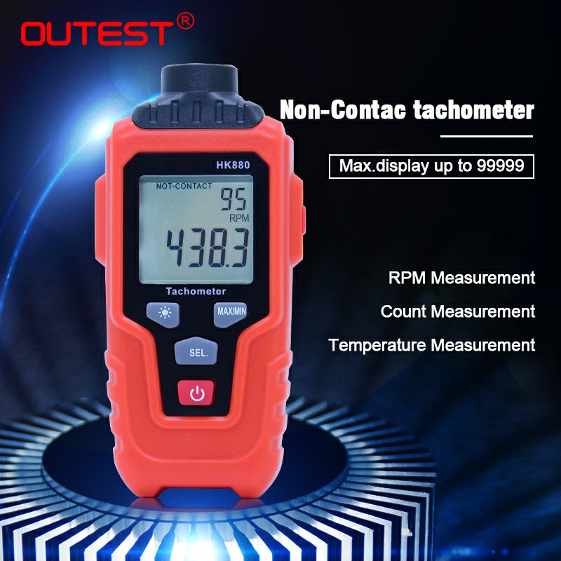 OUTEST non contact digital tachometer RPM Engine Speed Tester Laser Photo Tachometer Non Contact Speed Meter