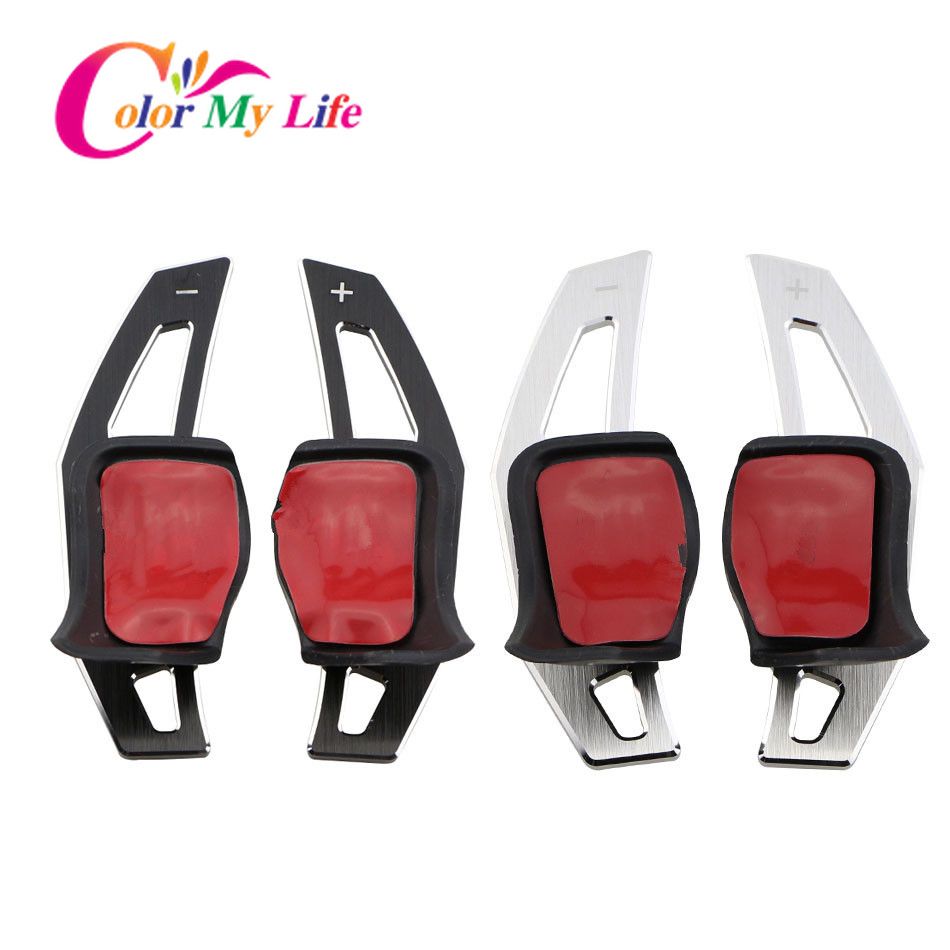 Color My Life Car Stainless Steel Paddle Shifter Extension Paddles Stickers for Volkswagen VW Golf 7 MK7 2013 - 2017 Accessories 2007 bmw x5 spoiler