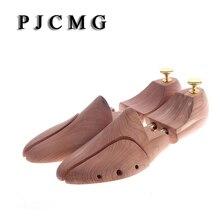 Paire Tube double en bois de cèdre rouge ajustable façonnant les chaussures pour hommes, arbre à chaussures