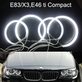 CCFL  Angel Eye Halo Light Error Free for BMW E83 X3  E46ti compact 3 series Warm White