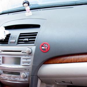 Image 4 - Dewtreetali Tutkal Etiket Uyarı Sigara İçilmez Logo Araba Çıkartmaları Yapıştırmak Kolay bmw benz için ford vw peugeot opel renault mazda golf