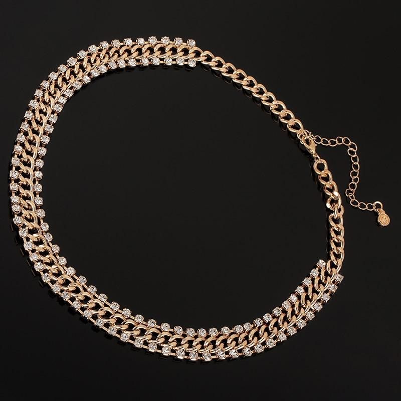 YFJEWE New Fashion Thick Chain Rhinestones Crystal Beads Choker ... 04dcaffdbf54