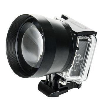 Soczewka powiększająca HD super teleobiektyw obiektyw uniwersalny 52mm profesjonalny aparat cyfrowy dla Gopro GOPRO 3 + 4 dla Xiaoyi ND998 tanie i dobre opinie centechia CN (pochodzenie) Obiektyw zoom 2014 Kamery about 180g Support 100000pcs