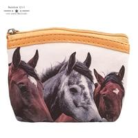 12 pz Rainbowgirl Nuovo Cavallo Carino Portafogli per I Bambini portamonete Con Cerniera Donne Portachiavi Portamonete Piccolo Portafoglio Borsa Bambini