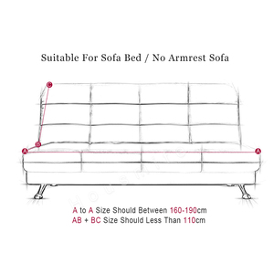 Image 2 - เรขาคณิตAll Inclusiveพับโซฟาเตียงยืดหยุ่นยืดห่อโซฟาที่นอนไม่มีที่เท้าแขนcopridivano