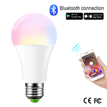 110V 220V AC85-265V Bluetooth E27 B22 RGB LED Bulb Dimmable Magic LED Night Light Lamp Energy Saving Lampada LED Spotlight Bulb