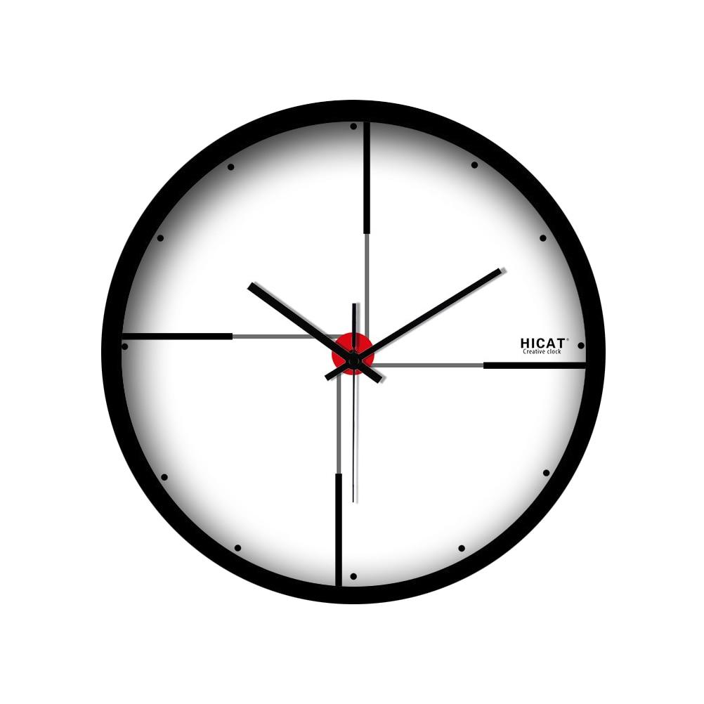 Horloge murale blanche grande horloge murale muette horloge de salon moderne sans pâte horloge murale domestique 50CL003