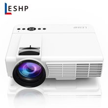 LESHP Q5 LED Projector 800*480 Pixel 1200LM Mini Home Theater Video Projector Home Cinema TV Laptops Smartphones цена