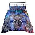 2 teile/satz 3D Mandala Elefanten Print Bettbezug-set Einzigen Doppel Königin König Größe Bett Leinen Boho Quilts Tröster Bettwäsche sets