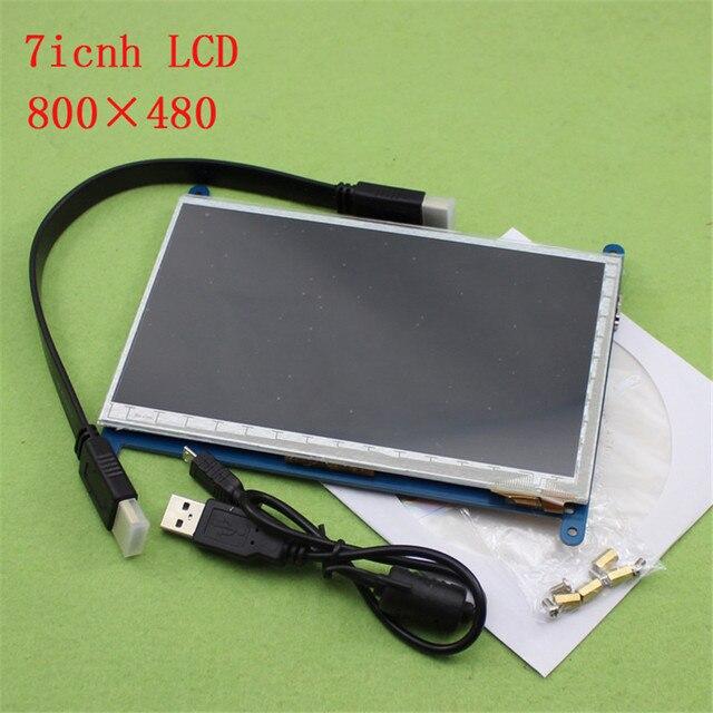 € 46 66 |7 pulgadas pantalla HDMI frambuesa dos tercios de generación de  pantalla táctil capacitiva frambuesa PI 7 pulgadas LCD con HDMI USB H6A1 en