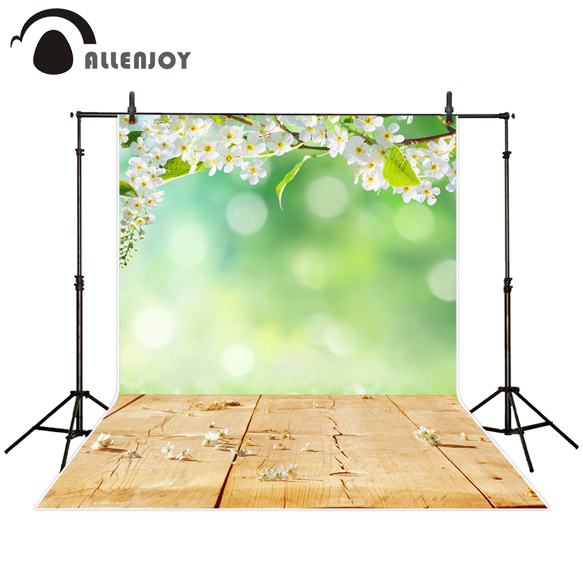Allenjoy photography backdrop spring flower nature wooden board Bokeh background photo studio new design camera fotografica allenjoy photography background blue red abstract christmas background golden stars glitter bokeh lights backdrop photo studio