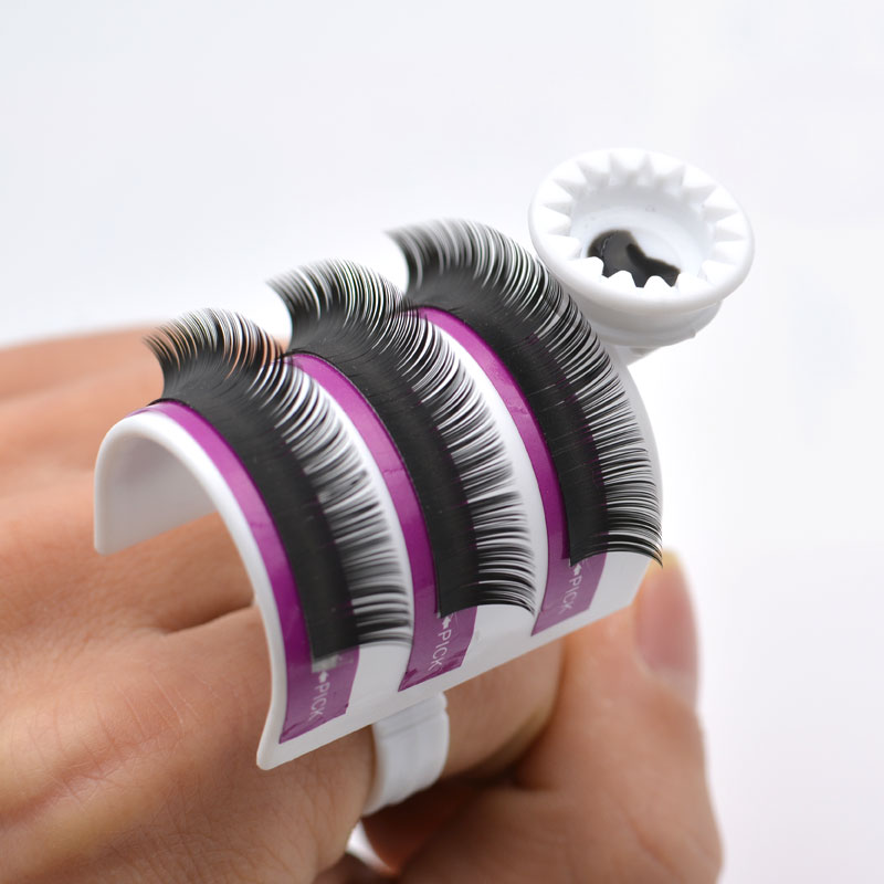 New Individual Eyelashes Holder Eyelash Extension Kit Tool Lash Glue Ring Adhesive Ball Makeup Tool