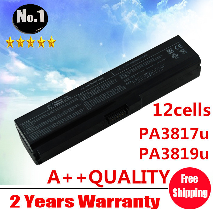 Wholesale New 12 cells Laptop battery For Toshiba Satellite L750 L755 L775 SERIES   PA3818u PA3819u PA3817U-1BRS Free shipping wholesale new 6 cells laptop battery for dell latitude d620 d630 d630c d631 series 0gd775 0gd787 0jd605 0jd606 free shipping