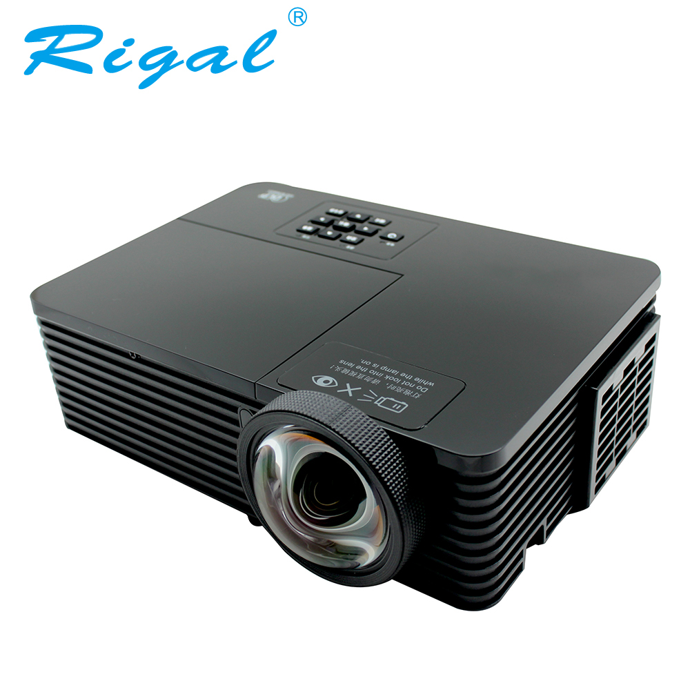 Rigal RD811 DLP Projector Short throw 3200 Ansi Lumen 1024*768 Beamer 3D Home Cinema Theatre Meeting Business Mercury Lamp HDMI
