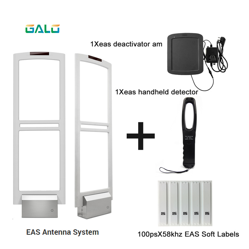 EAS Security Gate Antenna 58khz System With Deactivator Soft Tags Handheld Frequency Tester
