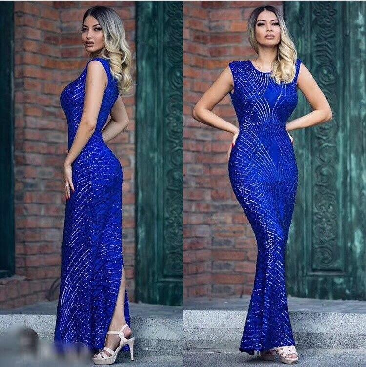 Celebrity Haute Sexy Qualité Robe bourgogne De Moulante Longue Paillettes Bling Party Maxi Maille Mode Trompette Bleu Femmes Noël Fishtail n0wvN8Om
