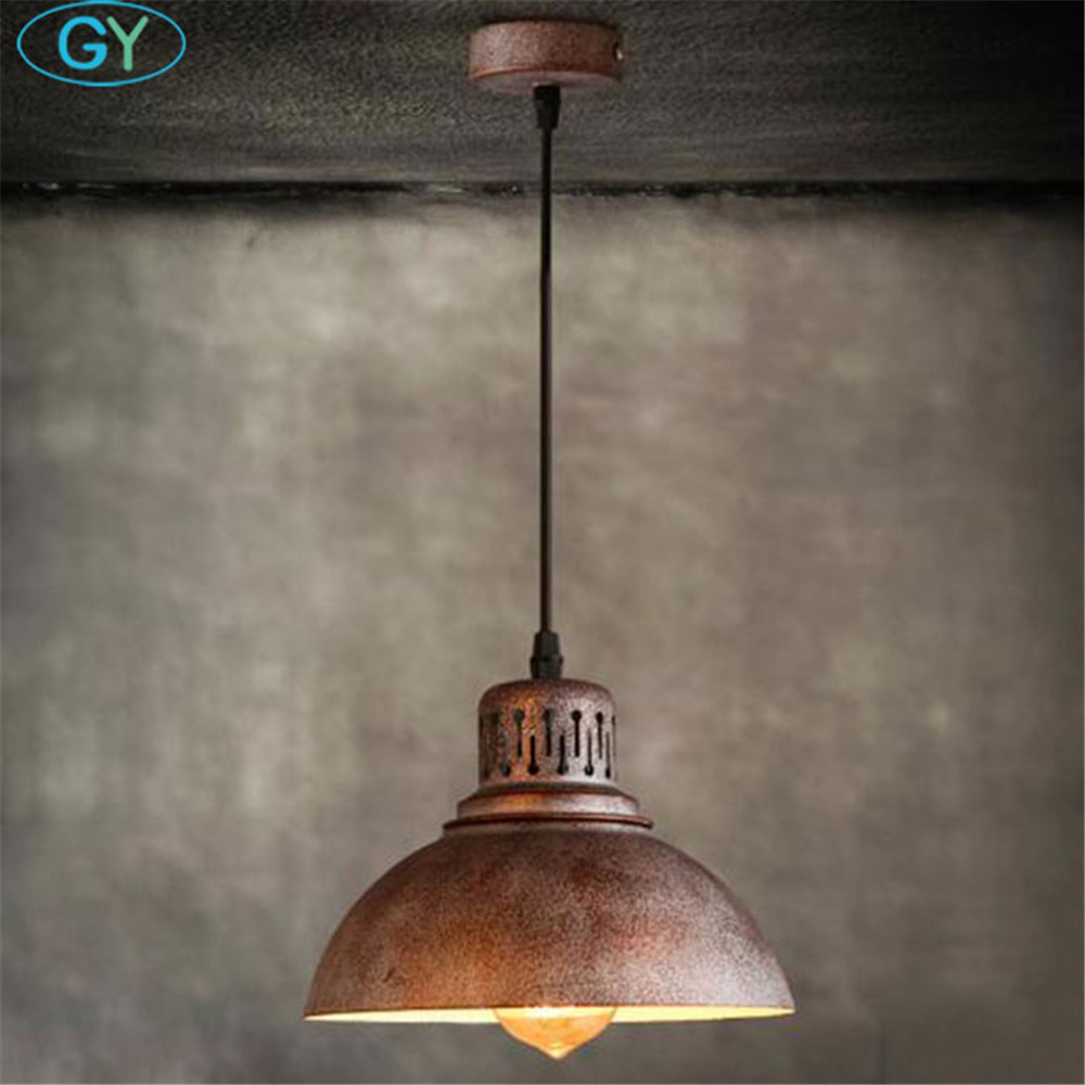 AC110-240V Retro Industrial rusty edison bulb Hanging Lamp Pendant Light vintage lighting fixture lampadario cristalli luminaire