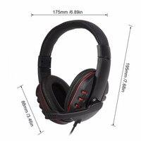 """pc עם 3.5 מ""""מ Wired Gaming אוזניות משחק אוזניות ביטול רעש אוזניות עם בקרת עוצמה מיקרופון עבור Play PS4 תחנת 4 PC (3)"""