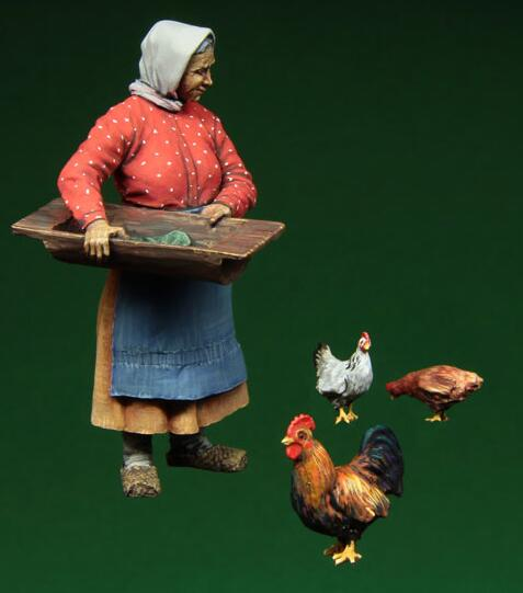 1/35 Resin Figure Old Women Model Kits
