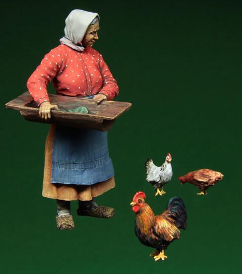 1/35 Resin Figure Old Women Model Kits