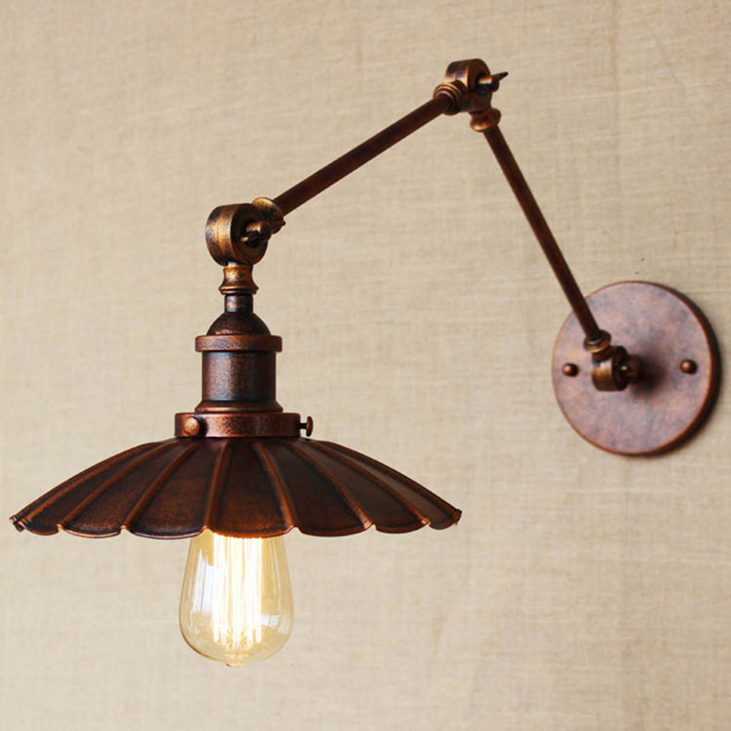 ФОТО Brief American Vintage Industrial Edison Wall lamps Clear Glass cafe bar Warehouse Wall sconce Lights indoor Bedside Lighting