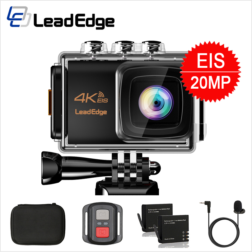 LeadEdge LE7000 Action Camera 4K 30FPS 20MP EIS External Microphone WiFi Waterproof Helmet Cam Pro Underwater Go Sport Camera(China)