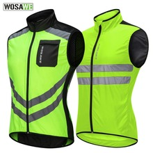 WOSAWE Motorcycle Reflective Vest High Visibility Motocross Riding Off-Road Safety Vest Windbreaker Running Sports Jacket цена и фото
