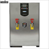 Xeoleo Commercial 60L Water dispenser Hot Water machine 180L/H Stainless steel Water boiler 6KW 380V Double Faucet