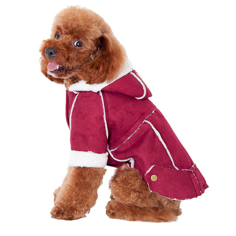 Small Pet Dog Cat Winter Warm Suede Coat Jacket Puppy Outwear Costumes