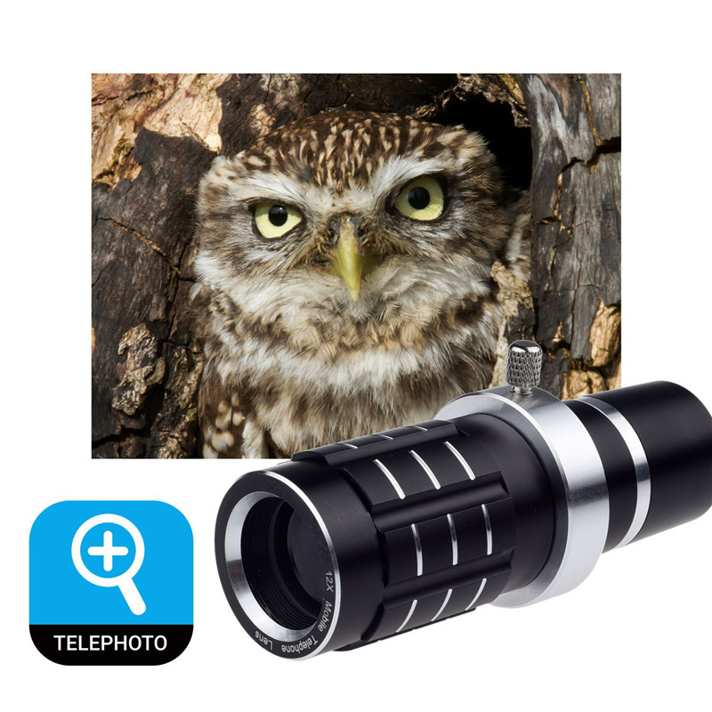 Appareil Photo Kit 12x objectif Zoom + accessoires + Fisheye + 2 in1 objectif Macro & grand Angle + étui pour samsung Galaxy S5 Neo S 6 9 S7 Edge S8 + - 2