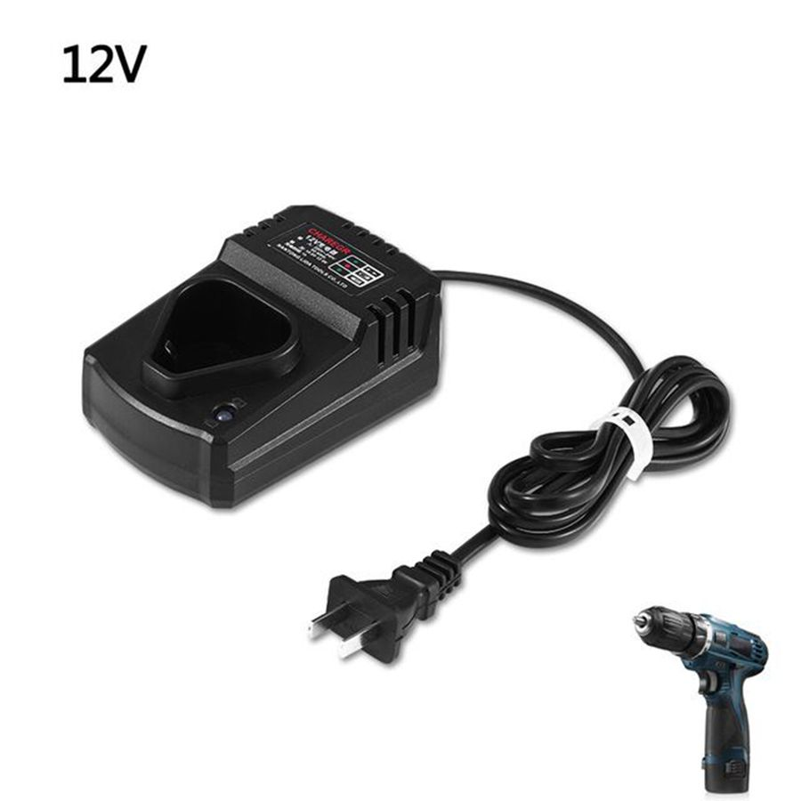 12V Charger Electric Screwdriver Lithium Battery Charger With EU adapter 30a 3s polymer lithium battery cell charger protection board pcb 18650 li ion lithium battery charging module 12 8 16v