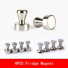4PCS N35 N52 Neodymium Office Strong Fridge Magnets Whiteboard Magnet Sticker For Chess Cup Shape Buckle