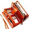 Split Leather Women Wallets 2017 Fashion Long Zipper Hasp Women Clutch Wallets Ms Clutch Purses Large