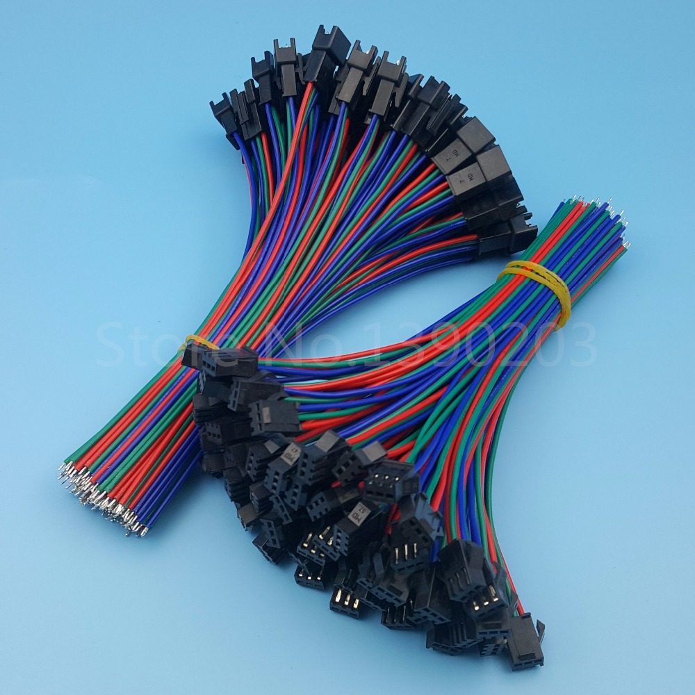 50Pairs SM 3Pin Pitch 2.54mm Male and Female 15cm 22AWG Wire Connector For LED Strips