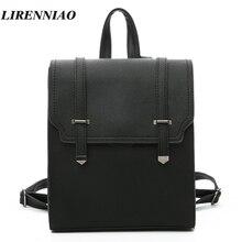 Высокое качество из искусственной кожи рюкзак Для женщин Daypacks Винтаж Школьные сумки для Обувь для девочек путешествия рюкзак женская мода Ремни Для женщин сумка Sac