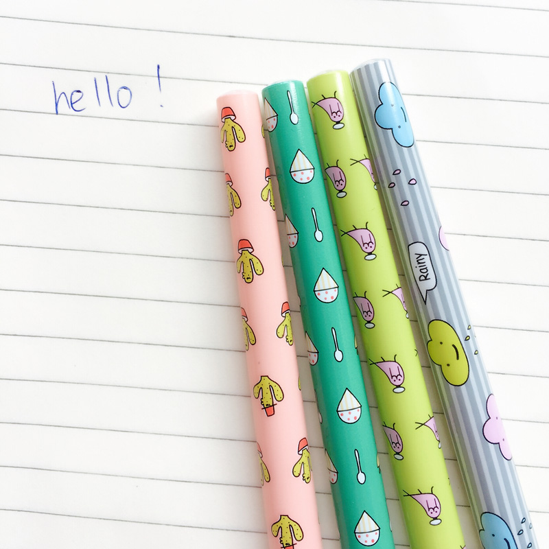 3X Fresh Cactus Bird Cloud Ice Cream Ball Ballpoint Pen Writing Signing Pen Office School Supply Student Stationery 0.5mm
