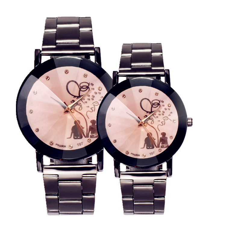 Fashion Watches for Couples Unisex Watch Unique Diamond Surface Women's Quartz Wristwatches Lover's Watch Pair Clock Men Watch