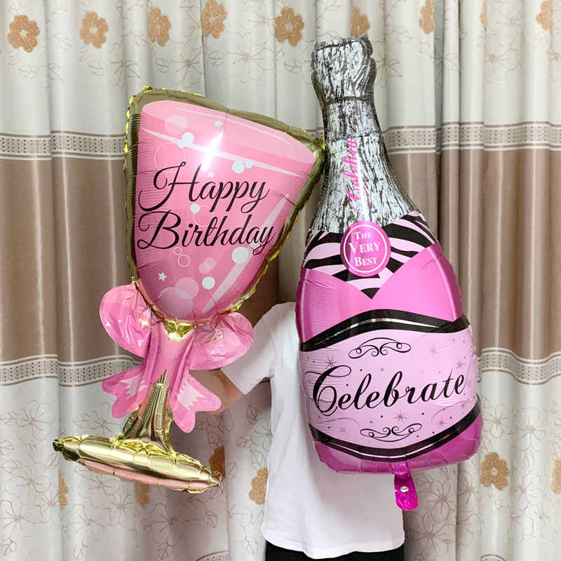Big Helium Balloon Champagne Goblet Balloon Wedding Birthday Party Decorations Adult Kids Ballons Globos Event Party Supplies .