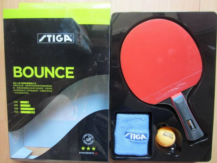 Original Stiga bounce 3 stars table tennis rackets suit for beginner finished rackets racquet sports pingpogn paddles original stiga pure table tennis rackets blade pimples in rubber colorful player stiga rackets sports ping pong rackets paddles