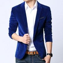 Темно-синий блейзер пиджак бархат верхняя slim fit костюмы весна пальто осень