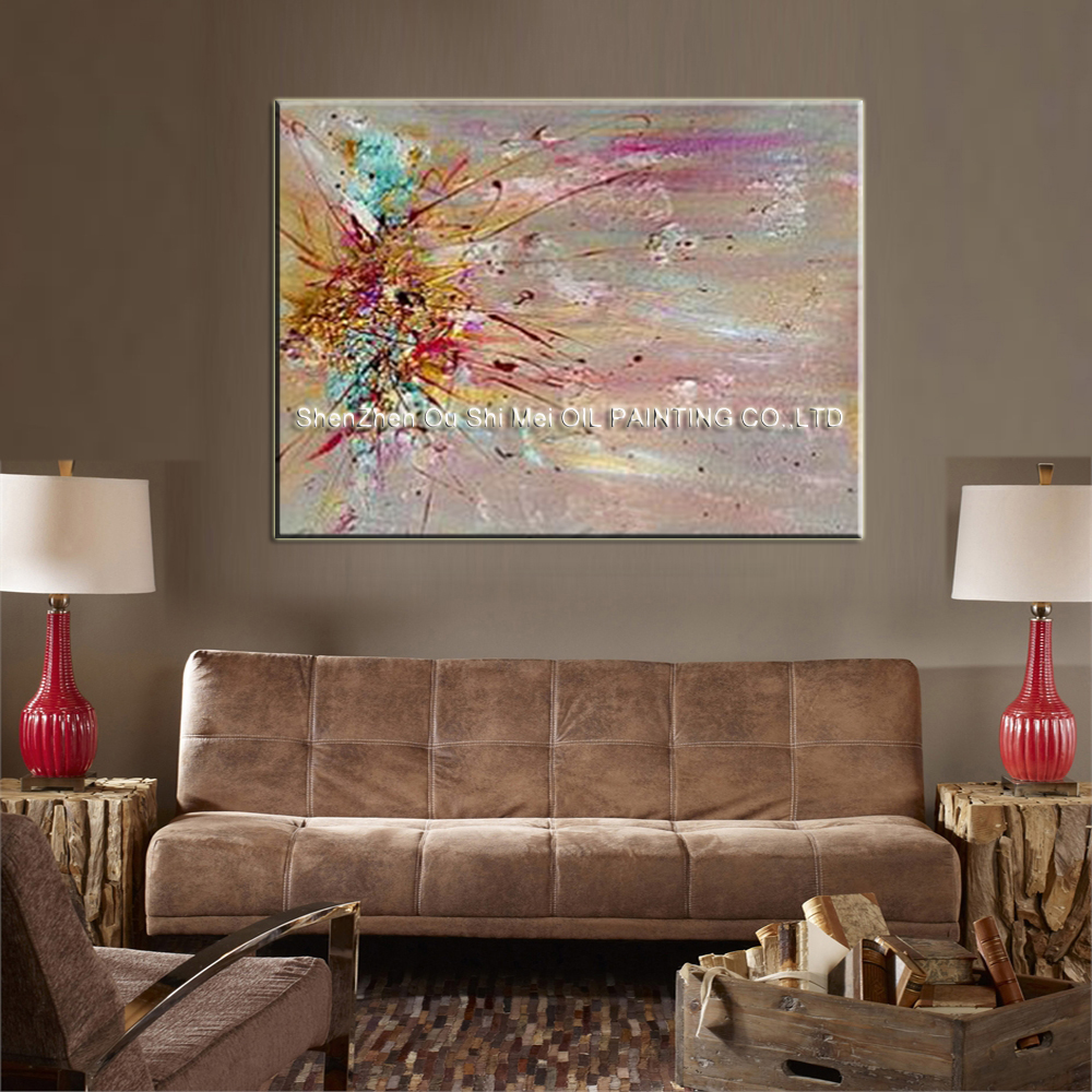 Online get cheap contemporary oil painting for Decor contemporain moderne