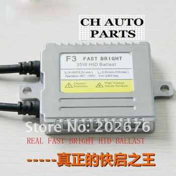 FREE SHIPPING, FASTER THAN OEM BALLAST, 35W F3 FAST BRIGHT/QUICK STARTUP HID XENON KIT, H1 H3 H7 H8 H9 H10 H11 9005 9006 880 881
