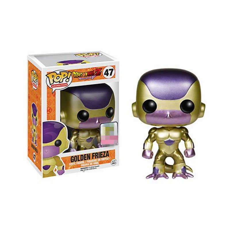 Funko pop Japanese Anime Dragon Ball 10CM GOLDEN FRIEZA Vinyl Action Figure Collection Toys for children Christmas gift