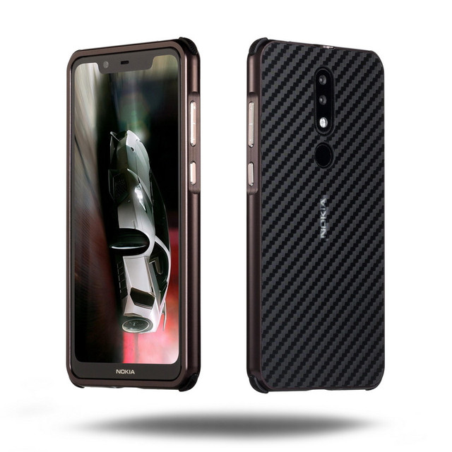 the latest aaa47 0a0fb US $6.2 31% OFF|Luxury Metal Bumper Case For Nokia X5 (5.1 Plus) Case 2 IN  1 Pull&Push PC Hard Carbon Fiber Case For Nokia X5 Metal Phone Cover-in ...