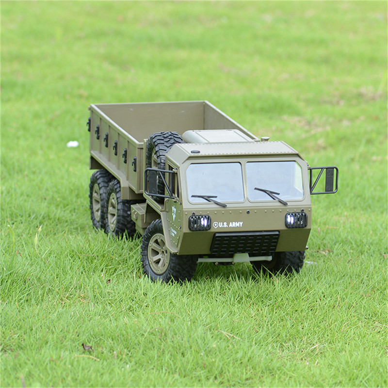 1:16 Scale FY004A 2.4G 6WD RC Car US Off-road Climbing Military Truck Model Toys