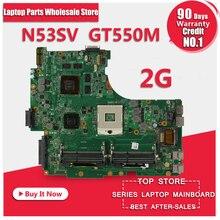 Original N53SV Motherboard Für ASUS N53S N53SN N53SM Mit 4 RAM SLOT GT550M 2 GB Voll test