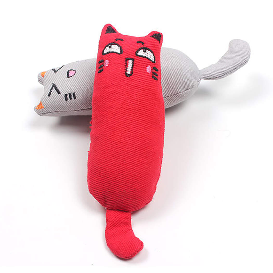1Pc Mini Cute Pet Plush Toys Claws Thumb Bite Cat Mint Scratcher Teeth Grinding Catnip Cat Toy Interactive Tools Pet Supplies